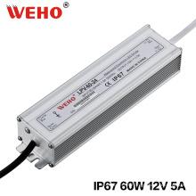 Fonte de alimentação impermeável 12V do interruptor de IP67 60W com Ce / RoHS