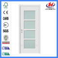Jhk-G17 Full View 4 Lite Alabaster Glass Shop Puerta de vidrio