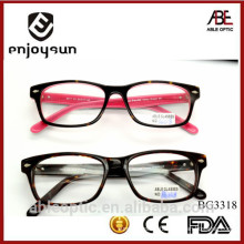 high quality 2015 double colors Light color acetate hand made spectacles optical frames eyewear eyeglasses