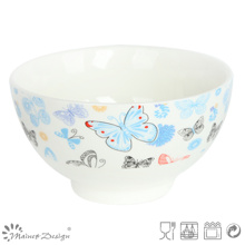 Romantic Butterfly Decal New Bone China Oatmeal Bowl
