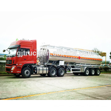 3 axles stainless steel fuel tank trailer with 46000 L capacity with 4 compartments