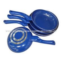 4-piece Non-stick Ceramic-coated Aluminum Cooking Pot, Ideal for Promotional Purposes