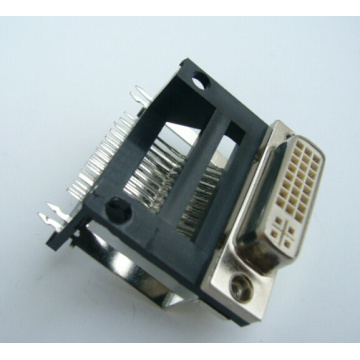 DVI 24 + 5 Female Angle DIP Type Framehoogte