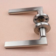 "Tube Satin Door Lever Handle with 8"" spindle"