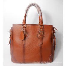 Guangzhou Supplier Branded Design Leather Women Brown Handbag Bag (197)