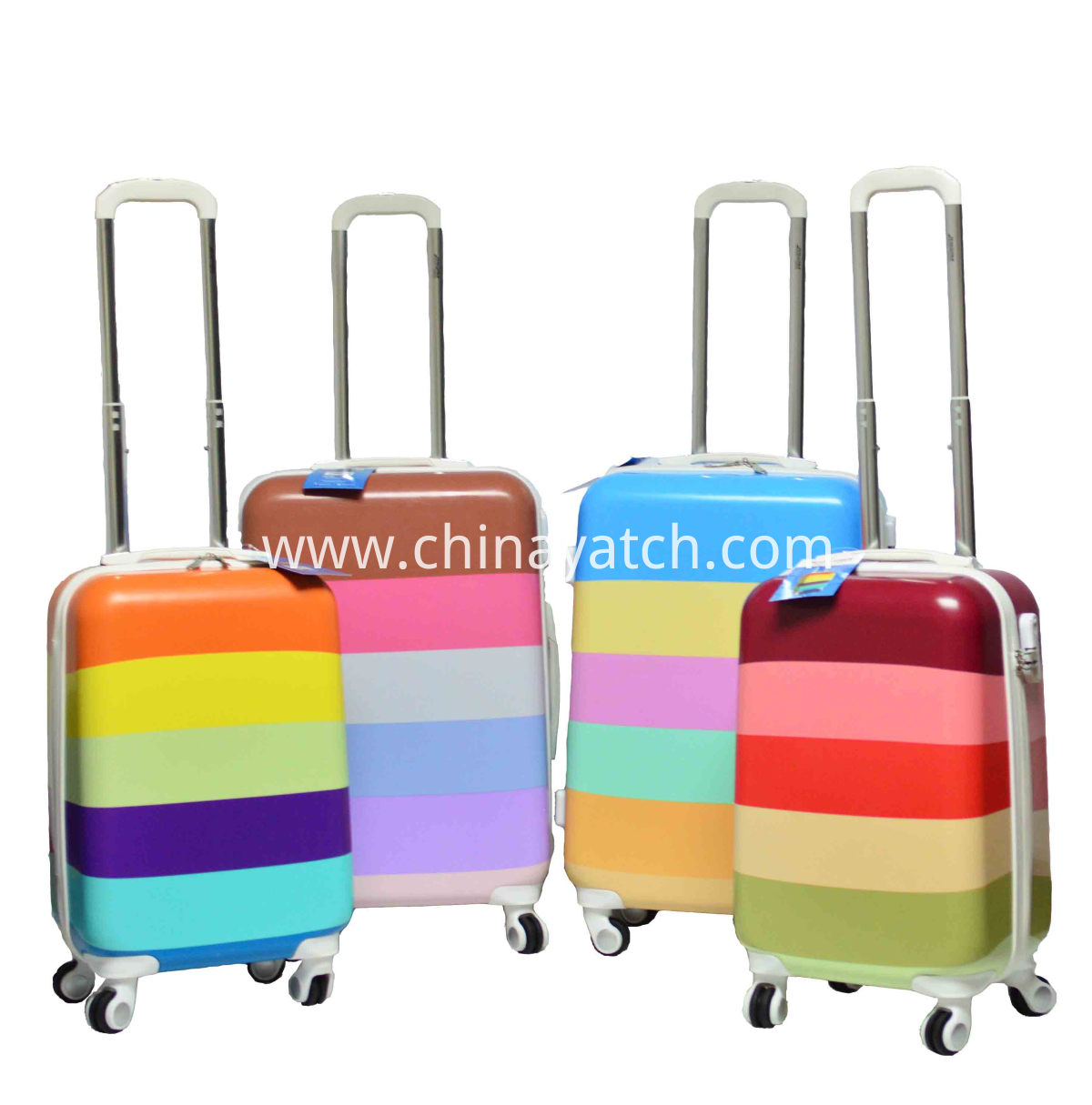 Colorful PC Printing Trolley Luggage set