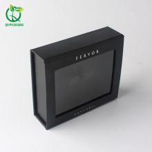Black matte color magnetic closure cosmetic cardboard gift packaging box