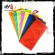 new product textile pouch for sunglasses, indian drawstring pouch, soft pouch sunglasses case