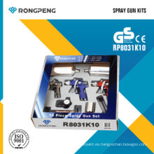 Rongpeng R8031k10 10PCS Air Spray Gun Kits Pistolas de aire
