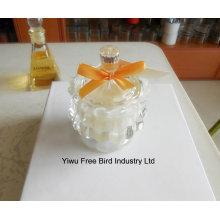 Bocaux en verre blanc faits à la main pour bougies