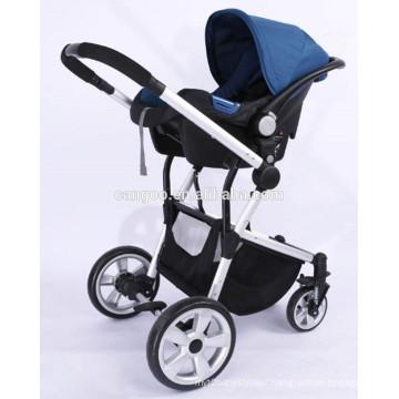 2015 high quality modern aluminium EN188 baby stroller with car seat