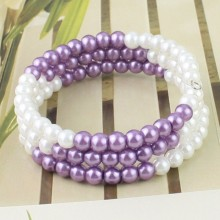 Leading for Wholesale Cuff Bracelets Custom Charm Faux Pearl  Beaded Cuff Bracelet export to Niger Factory