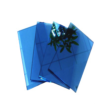 High quality blue colored coating toughened glass reflective tempered glass for hotel building
