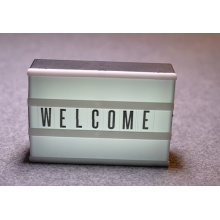 New letters led advertising box light with battery