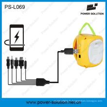 Mini lanterne solaire qualifiée 4500mAh / 6V pour la pièce (PS-L069)