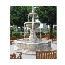 Water Fountain with White Marble Stone