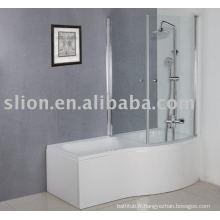 Baignoire acrylique en forme de P, baignoire bébé, baignoire acrylique carrée