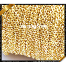 Kettenhalsketten-Großverkauf, Schmucksache-Kette, kupferne Goldketten-Zusätze (RF053)