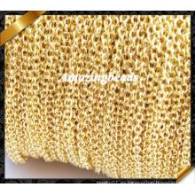 Collar de cadena al por mayor, cadena de la joyería, accesorios de cobre de la cadena del oro (RF053)