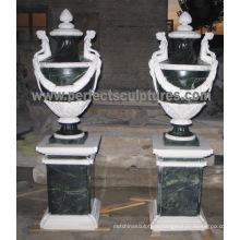 Marble Flower Vase for Garden Stone (QFP324)