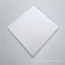 Hoja sólida de policarbonato de prisma de alta difusión de luz