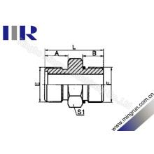 Connecteur hydraulique de raccord de tube d'O-Ring métrique (1EO)