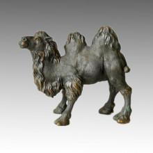 Sculpture en bronze animal Statue en laiton grand et petit chameau Tpal-038/039
