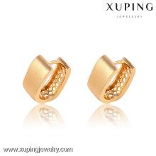 90856-Xuping novo e moderno banhado a ouro brincos clip-on