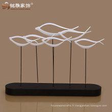 Guangzhou usine offre cadeau décoration résine résumé poisson figure haute qualité pour décoration intérieure