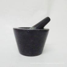Mortier et pilon en pierre de granit