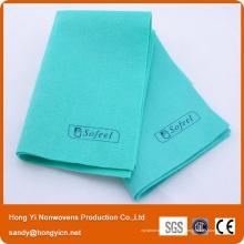 Chiffon de nettoyage non tissé de tissu allemand de style allemand 100% viscose, chiffon de nettoyage tout usage