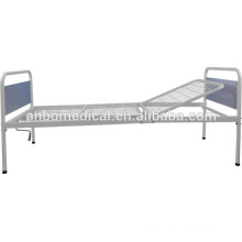 foldable single crank with steel weldmesh bed board hospital bed