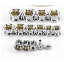 Corpo piercing jóias coruja orelha piercing orelha plug
