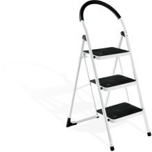 2016 heißer Verkauf 3 Bein Stahl Stufenleiter, Schritt tragbare Schritte mit Handlauf,