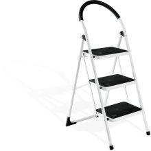 2016 escalera de paso de acero de la pierna caliente de la venta 3, pasos portátiles del paso con la barandilla,