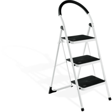 2016 hot sale 3 leg steel step ladder, step portable steps with handrail,