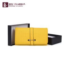 HEC Pas Cher Prix Vente Chaude PVC PU Matériel En Cuir Femmes Portefeuilles Style Coréen Multifonction Pliant Dames Coin Sacs À Main
