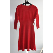 63% Ray37% Nylon señoras vestido de suéter de punto