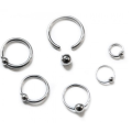316L Surgical Steel Piercing BCR Ring