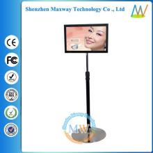 LCD de 19 pulgadas piso stand expositor giratorio publicitario