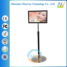 19 inch floor stand LCD display rotating advertising stand