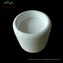 Coupe de bougie en pierre blanche