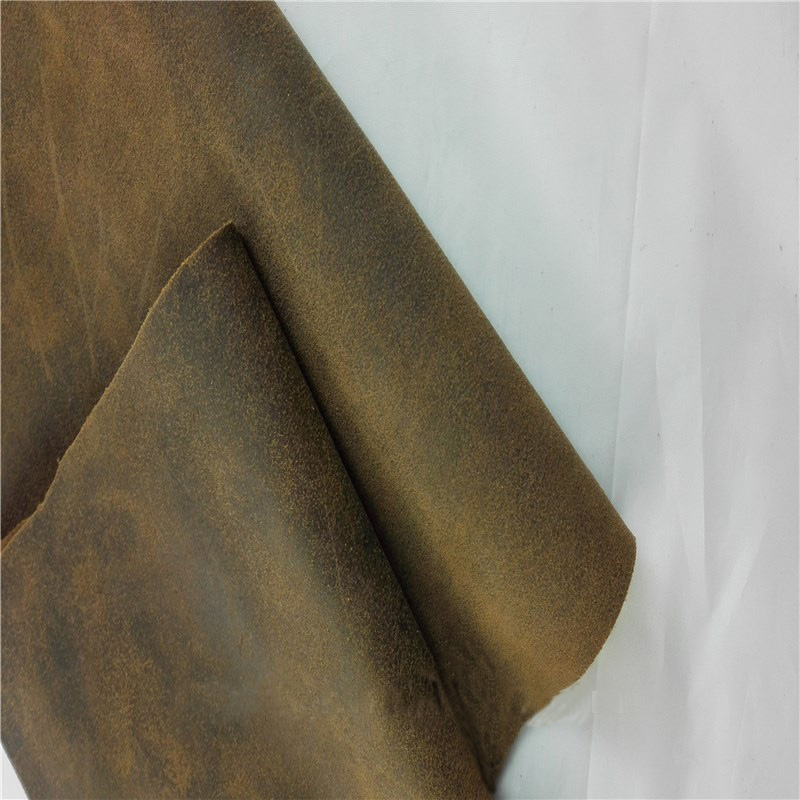 Classical distressed cow leather