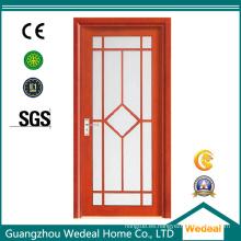 Puerta de aluminio de seguridad de metal interior de seguridad de madera