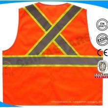 CSA chaleco de seguridad de alta visibilidad de malla anaranjada