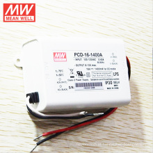 Mean Well MW 16 W 1400mA corte de fase CA regulável constante constante PCD-16-1400A Dimmable LED Driver