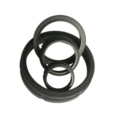 Compressor piston guide graphite seal ring/support ring lubrication rod seal