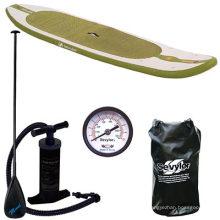 Коричневые спортивные надувные доски для весла с аксессуарами