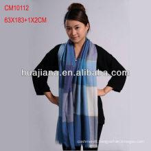 Top grade women woven 100% cashmere scarves