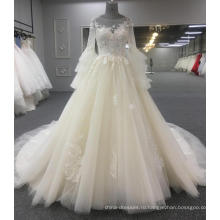 С длинным рукавом элегантное свадебное платье платье 2018 WT419 для новобрачных